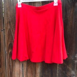 Red High Waist Skirt